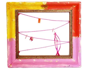 Bohostyle memo board yellow,orange,pink designed by Nagual-Spirit