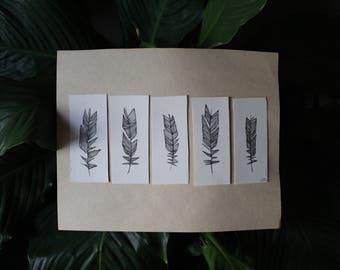 feathers (original, unframed)