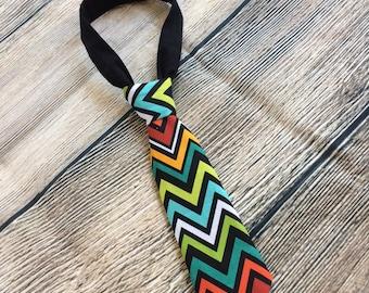 Baby Necktie, Baby Boy Tie, Baby Gift, Baby Shower Gift, Chevron,