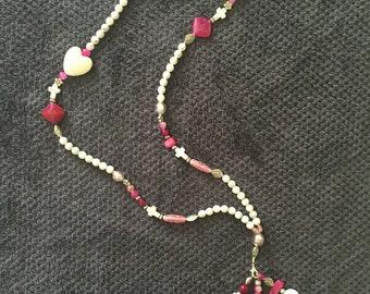 CORALIE necklace pink