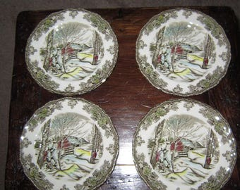 The Johnson Brothers-Made in England-Sugar Maples Pattern- Bread and Butter Plates, set of Four!*