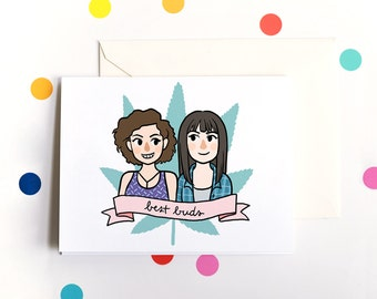 Broad City - Greeting Card A4