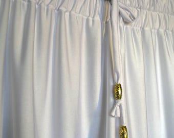 White Athletic Knit Pajama Shorts