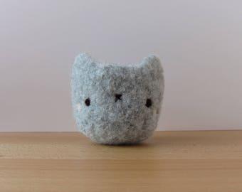 Kitty Grey Tiny Felted Woolen Bowl