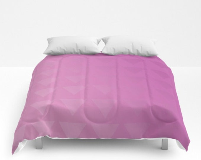 Pink Comforter - Shades of Pink Bed Comforter - Bed Cover - Bedding - King - Queen - Full - Made to Order