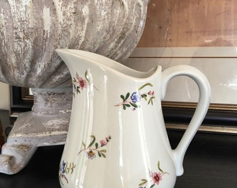 Cordon Bleu Pitcher Margot / Frieda Collection 32 Oz Vintage Floral Jug ~ #A1314