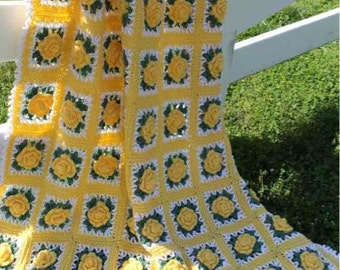 Remember Summer Afghan Crochet Pattern PDF