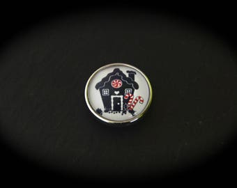 Cabochon in fancy pressure 18mm for jewelry - fairy tale: Hansel and Gretel
