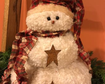 primitive snowman, snowman, winter decoration