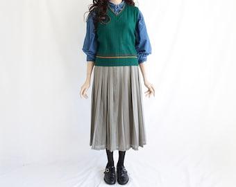 90s Vintage Fine Green Vest