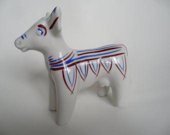 Handpainted porcelain figure,Vintage collectible figure,german porcelain cow,cow figure,handpainted collectible figure