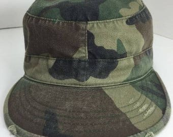 Ultra force camo distressed patrol cap hat