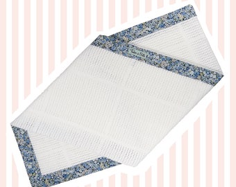 Liberty of London Baby Blanket | Blue Chive