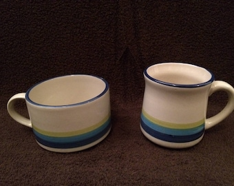 Set of 4 vintage mugs made by Stonecrest in Korea