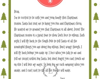 Personalized Elf Arrival Letter Printable {Receive Before December 1st}