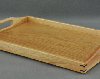 "Serving Tray/ Ottoman Tray- Cherry 14"" x 20"" by Tyler Morris Woodworking"