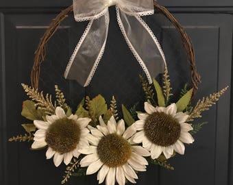 Grapevine & Chicken wire wreath