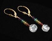 Cubic Zirconia Chakra Earrings | CHAKRA Stones | Gold Chakra earrings |  Chakra Jewelry | Chakra Stone Set | Chakra Crystals | Yoga Jewelry