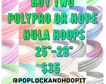HOT DEAL! Polypro Hula Hoop // Buy Any 2 Polypro or HDPE Hula Hoops // Collapsible // Customizable// Light Weight//
