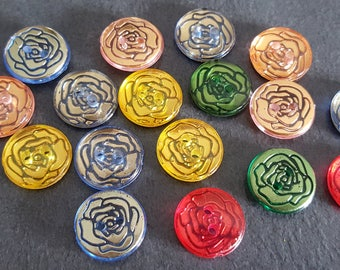 20 multicolored fancy, colorful buttons, knitting, sewing 13 mm buttons buttons buttons
