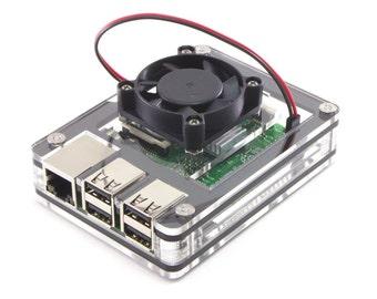 Zebra Fan Top Upgrade for Raspberry Pi 3B+, 3 2 B+  Or ASUS Tinker BoardFan included