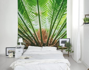 Plant Tapestry, Dorm Decor, Macro Photography, Green Decoration, Wall Tapestries, Fabric Printed. UL099