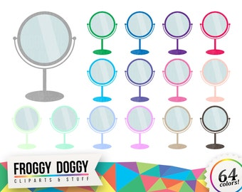 Mirror Clipart, Makeup Clipart, Morning Clipart, Bathroom Clipart, Beauty Clipart, Planner Clipart, Scrapbooking Cliparts