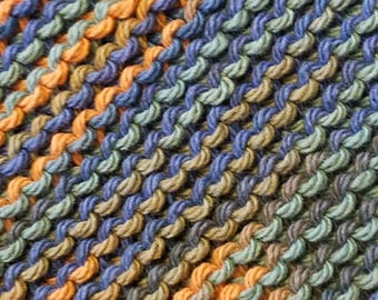Handmade Knitted Dishcloth - Capri Ombre