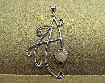 Sterling silver sunstone pendant