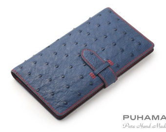 PD25 Hand-Stitched Handmade Leather ID Business Credit Card Holder Pocket Wallet purse