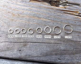 Sterling Silver Jump Ring Sterling Silver Hammered Jump Ring 18G 5 PIECES Sterling Silver Jewelry Supply Sterling Silver Findings USA
