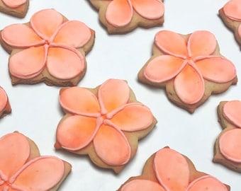 Plumeria Flower Cookies