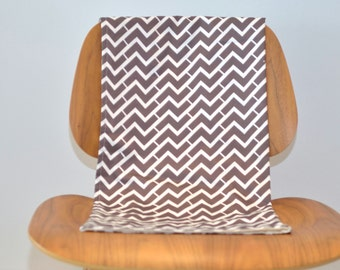 Organic Baby Blanket - Geometric Chevron and Organic Flannel - For Eco Friendly Modern Baby (Ready to Ship)
