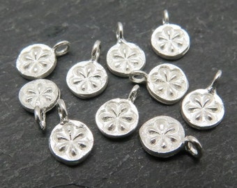 Sterling Silver Daisy Charm 7mm