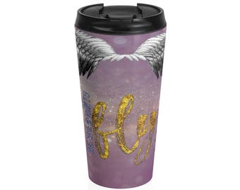 Born To Fly Stainless Steel Travel Mug