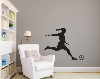 Soccer Wall Decal Etsy - Custom vinyl stickers for girls