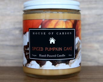 Spiced Pumpkin Cake Candle | Vegan Candle | Scented Candle | House of Carson by Royalty Soaps