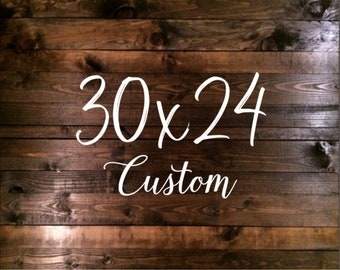 LARGE Custom Wood Sign, Custom Quote, Last Name, Family Name, Bible Verse, Wedding Sign, Custom Signs, Anniversary Gift, Housewarming Gift