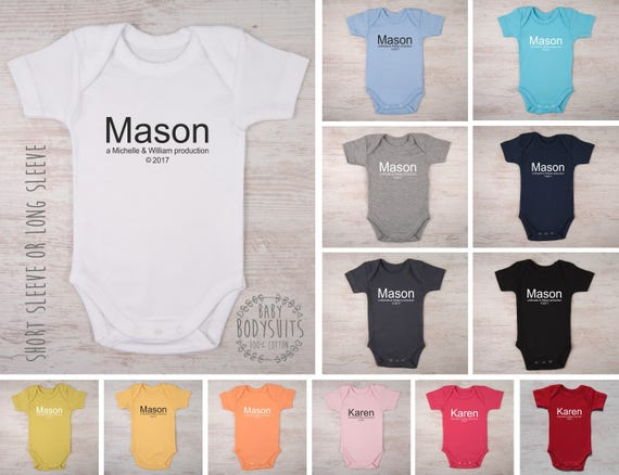Personalized baby gifts parents production baby bodysuit like this item negle Gallery