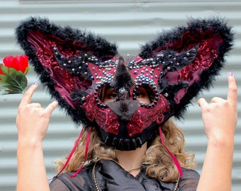 Glitter Bat Reversible Mask