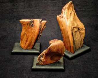 Mesquite Trio - Set of Three Mesquite Sculptures