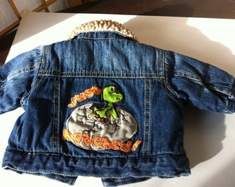 Sooo Cute New Born Jean Jacket Just Hatched