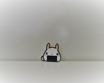 Pin badge - onigiri Bunny