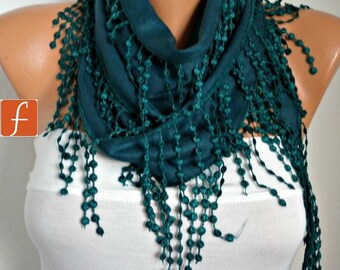 St. Patrick's Day, Emerald Green Pashmina Scarf - Cowl Bridesmaid Gift For Her Women Fashion Accessories