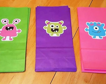ONE WEEK SALE! - 12 Lil Monster Party Bags