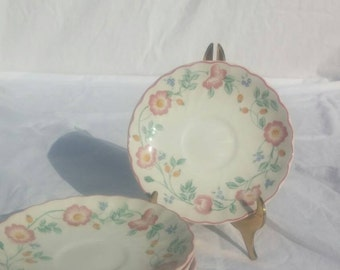Briar Rose saucers, from Churchill's Chartwell Collection