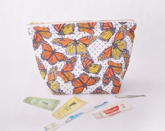 Toiletry Pouch - Monarch Butterfly