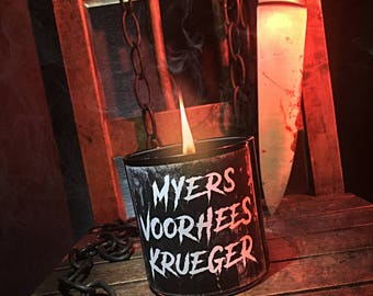 Wood Wick Slashers Candle - Choose Your Sick Scent - Horror Candles