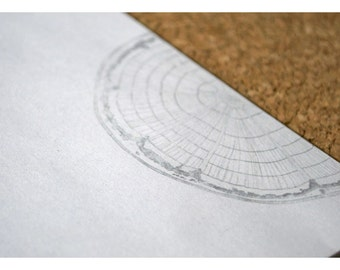 Wood Cross Section Personalized Notepad - Wood Notepad - Tree Rings Notepad - Natural and Simple Notepad