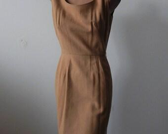 "Vintage 1960s Wool Dress Jumper 36"" bust; 25"" Waist"